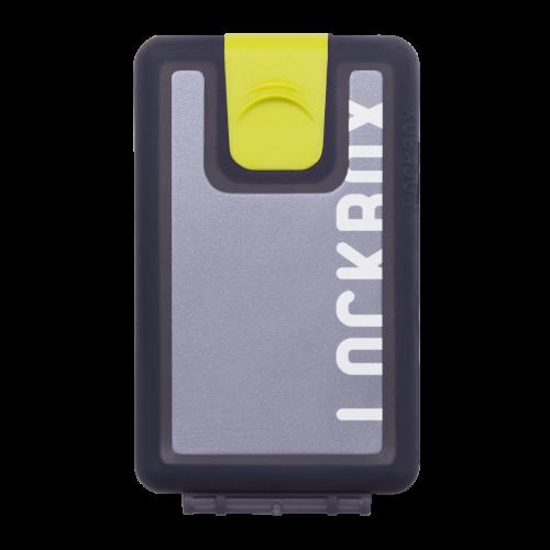 Lockbox Transp Grey Silver plata clip verde
