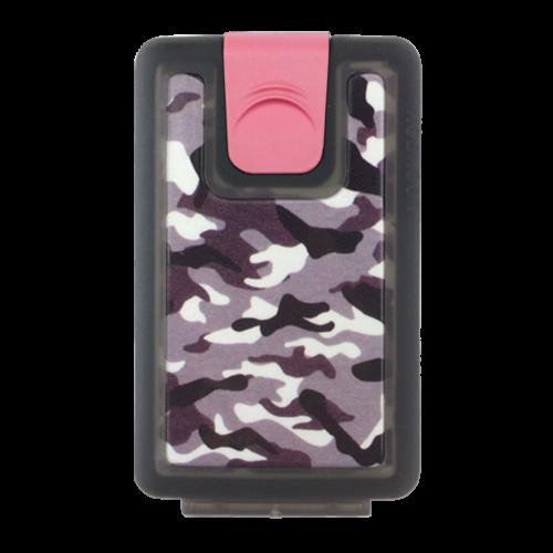 Lockbox Camo antracita clip rosa