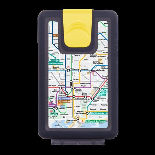 Lockbox Metro Barcelona. Clip cierre amarillo.