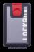 Lockbox Transp Grey Silver plata clip rojo