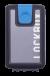 Lockbox Transp Grey Silver plata clip azul