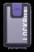 Lockbox Transp Grey Silver plata clip lila