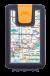 Lockbox Metro Barcelona. Clip cierre naranja.